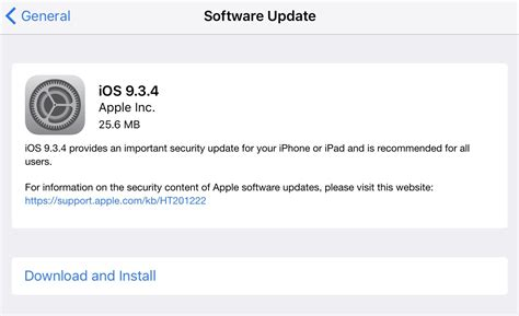 ios 9 3 4 released with an important security fix that