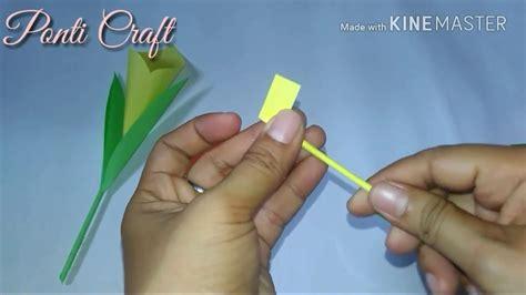 cara membuat origami bunga lily youtube origami 2 cara membuat bunga lily dari kertas origami