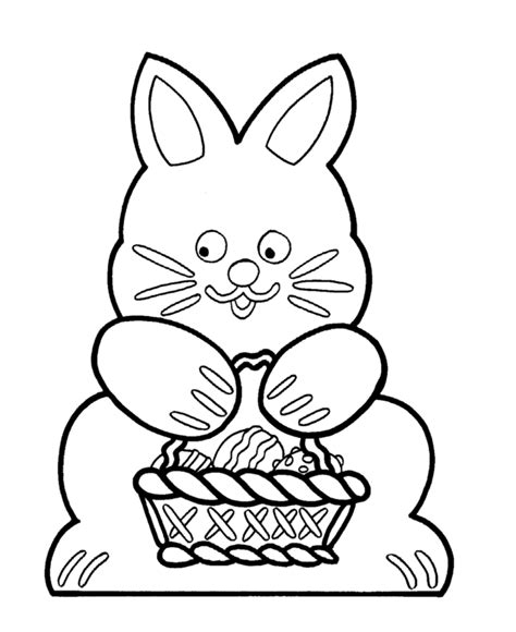 Easter Bunny Outline Cliparts Co Coloring Pages Cutouts