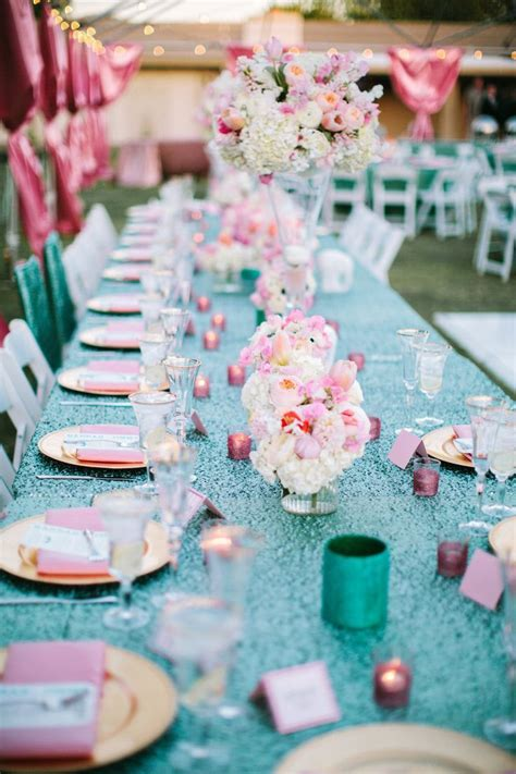 69 best Turquoise Wedding Decorations images on Pinterest