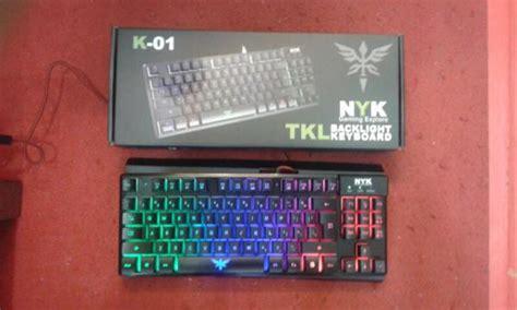 Nyk K 01 Tkl Gaming Keyboard jual nyk tkl k01 k 01 keyboard gaming tkl bonus