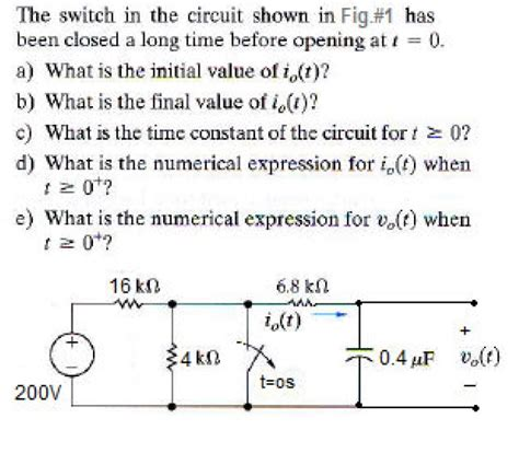 suppose the switch is closed for a time how much energy is stored in the inductor the switch has been closed for a time what is the charge on the capacitor 28 images