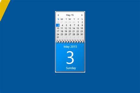 Calendar Desktop Gadget Blue Calendar Windows 10 Gadget Win10gadgets