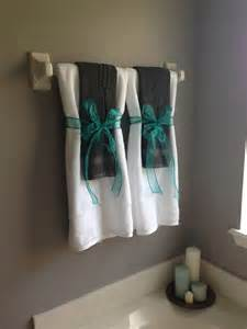 Bathroom Towel Hanging Ideas Gray And Turquoise Bathroom For The Home Pinterest