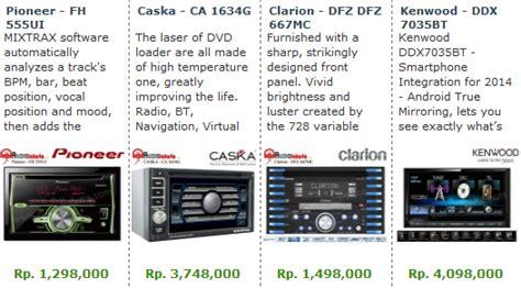 Harga Merk Mobil Murah aneka merk audio mobil murah berkualitas