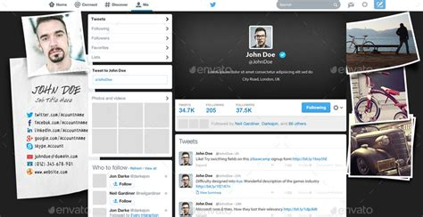 twitter layout preview twitter background design by myboodesign graphicriver