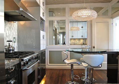 mirror in kitchen deco condo contemporary kitchen san francisco