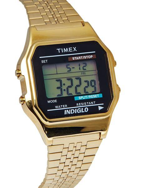 Timex Classic Digital Goldtone Bracelet Watch in Metallic for Men   Lyst