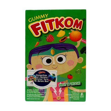 Suplemen Dan Vitamin Anak Anak Egoji Gummy Sachet Rasa Strawberry jual fitkom gummy fruit veggie multivitamin anak harga kualitas terjamin blibli