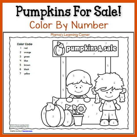 Color By Number Pumpkins Mamas Learning Corner Color By Number Pumpkin