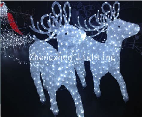 light up led santa reindeer sleigh christmas decoration