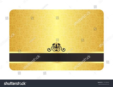 gold membership card template gold card vintage pattern stock vector 114128926