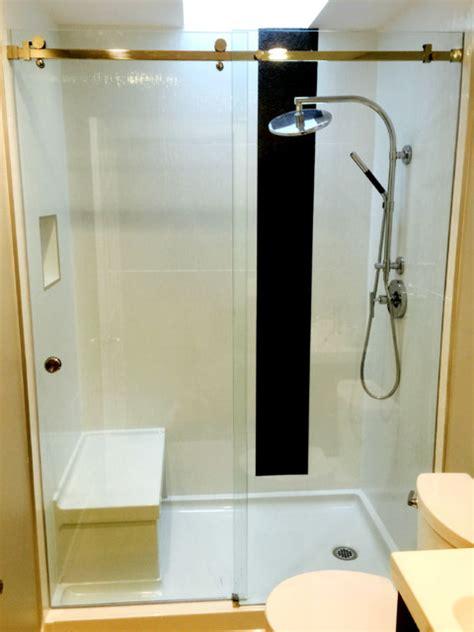 Serenity Shower Door by Serenity Sliding Shower Door Vancouver Shower Glass