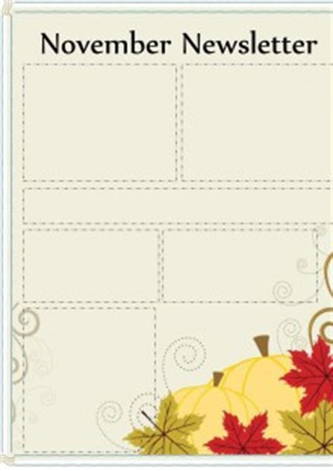 free november newsletter templates free printable newsletters newsletter templates email