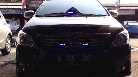 Lu Led Mobil Innova toyota innova with strobe led 4pcs led