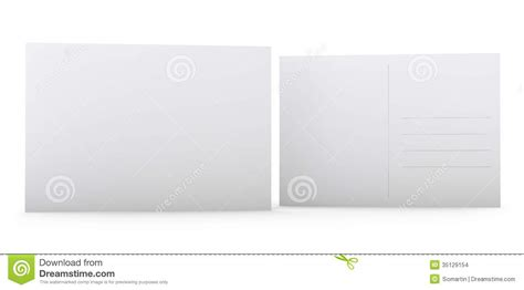 front and back postcard template blank postcard stock images image 35129154