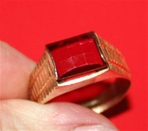 mens gents ct genuine  carat ruby solitaire ring