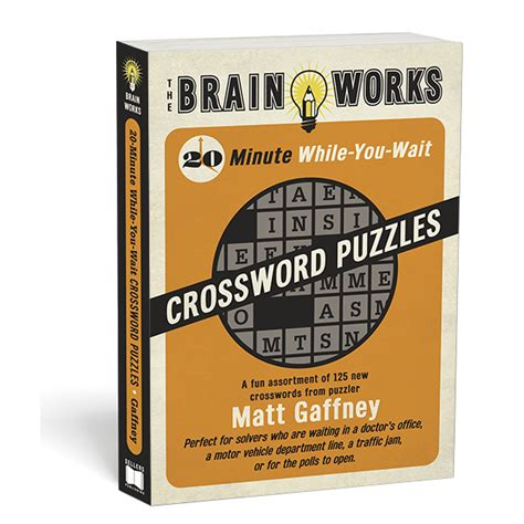 While You Wait 3 by 20 Minute While You Wait Crossword Puzzles Rsvp
