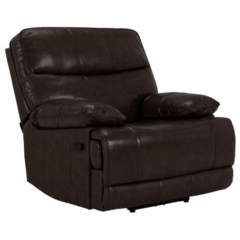 vinyl recliner city furniture liam dark brown leather vinyl recliner