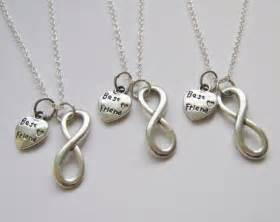 Infinity Bff Necklace 3 Infinity Best Friend Necklaces Bff Friends