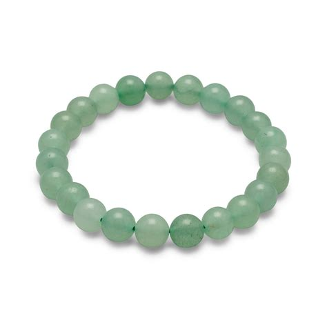 green bead bracelet green aventurine bead stretch bracelet semiprecious