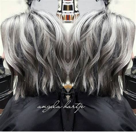 hair highlights for salt and pepper hair 17 best images about highlights on pinterest ash silver