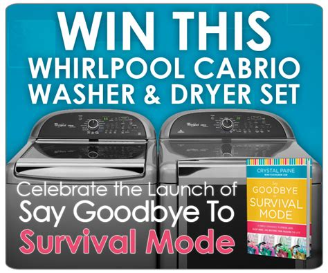 Laundry Pair A Day Giveaway by Win A Whirlpool Cabrio Washer Dryer Set Money Saving 174