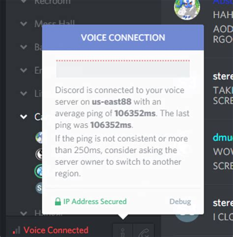 discord awaiting endpoint my friend is having a more than one minute ping on