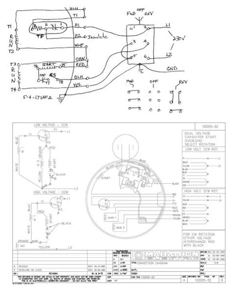 marathon dual voltage motor wiring diagram wiring