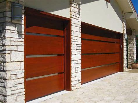 Modern Wood Garage Doors Contemporary Wooden Garage Doors Ayanahouse