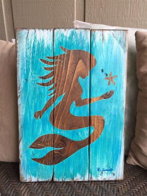 mermaid board for bathrooms mermaid wall decor painted mermaid art on wood mermaid