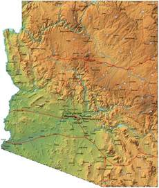 Arizona On A Map by The Best Maps Of Arizona For Fishing And Exploring