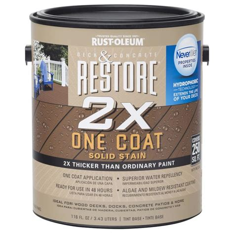shop rust oleum restore tintable tintable resurfacer actual net contents 116 oz at lowes