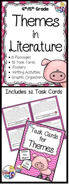 theme in literature songs literature and task cards task cards for theme for 4th 5th grade theme common