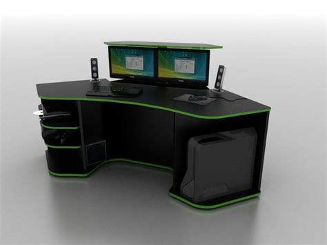r2s gaming desk for sale r2s remote lift hide monitors gaming desk project more