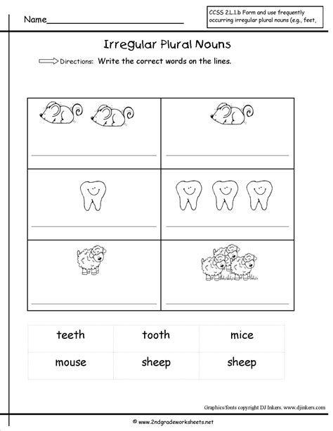 Irregular Plural Nouns Worksheet by Singular And Plural Nouns Worksheets