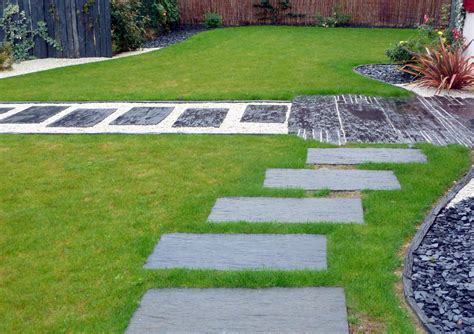 dalles jardin all 233 es de grandes dalles de schiste id 233 e jardin