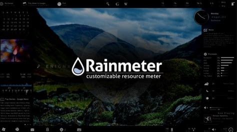 temperature theme download for pc top 25 best rainmeter skins for windows 10 8 1 7 2017