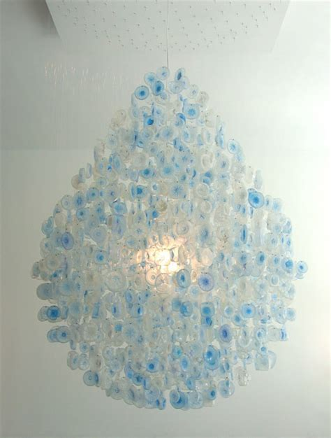 Recycled Water Bottle Chandelier Plastic Water Bottle Bottoms Chandelier 187 Curbly Diy Design Community