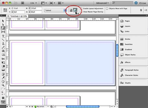 indesign layout landscape creating mixed page orientations in the same layout