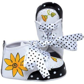 Lil Tootsies Daisy Hand Painted Baby Shoes   I Wish Gifts