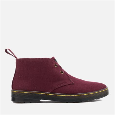Sepatu Boot Dr Martens Dokmart Maroon Low dr martens s mayport overdyed twill canvas lace low boots oxblood free uk delivery