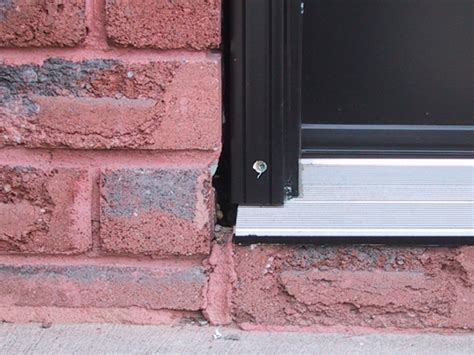 How To Install A Door Threshold On Exterior Door Homeofficedecoration Exterior Door Threshold Installation