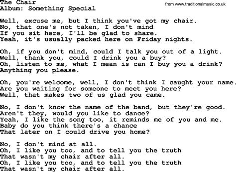 The Chair George Strait Lyrics by The Chair By George Strait Lyrics