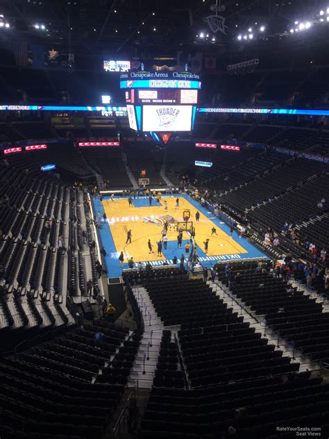 chesapeake energy arena section  oklahoma city thunder rateyourseatscom