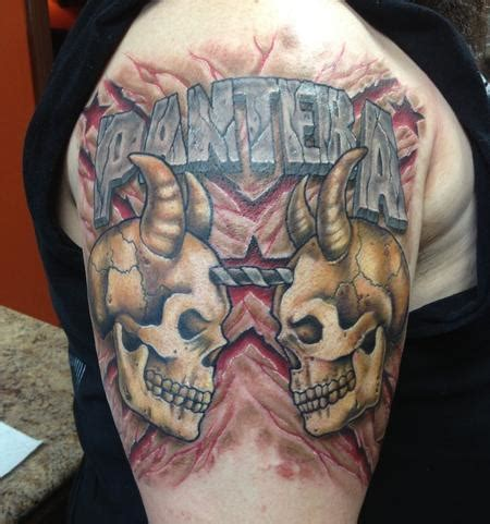 pantera tattoo depiction gallery tattoos part arm