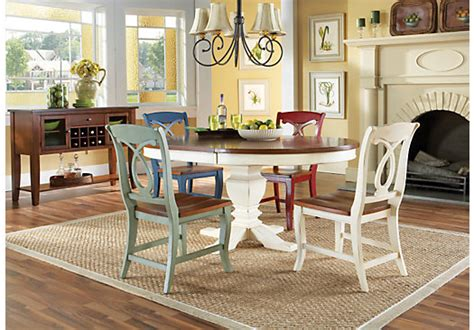 Cottage Dining Room Sets - home white california cottage pedestal 5 pc