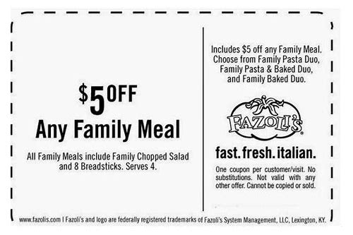 fazoli's coupon codes