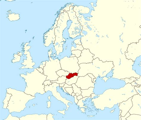 where is slovakia on the map detailed slovakia location map vidiani maps of all