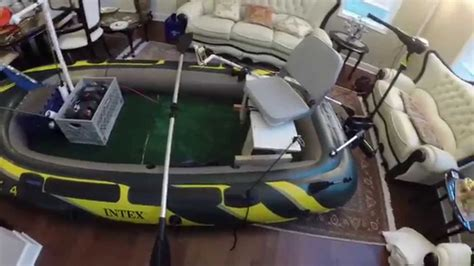 inflatable fishing boat mods intex seahawk 4 fishing boat modifications youtube